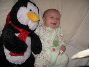 Penguin with my eldest - early 2010.