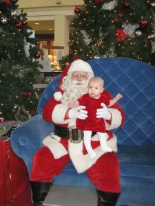 My youngest with Santa last year.  My eldest - after asking to see him for weeks - refused to go near him.
