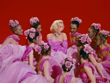 From here: http://fashion-and-film.tumblr.com/post/85687217485/gentlemen-prefer-blondes-1953