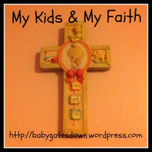 The cross that's in my youngest's bedroom.  A gift from her baptism.
