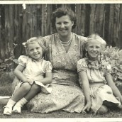 My grandmother with her two daughters - 1950s South Africa