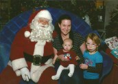 My girls and me with Santa, Ottawa Dec. 2012