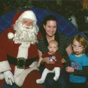 My girls and me with Santa, Ottawa Dec. 2012