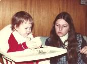 My mom and me - Ottawa, late 1970s