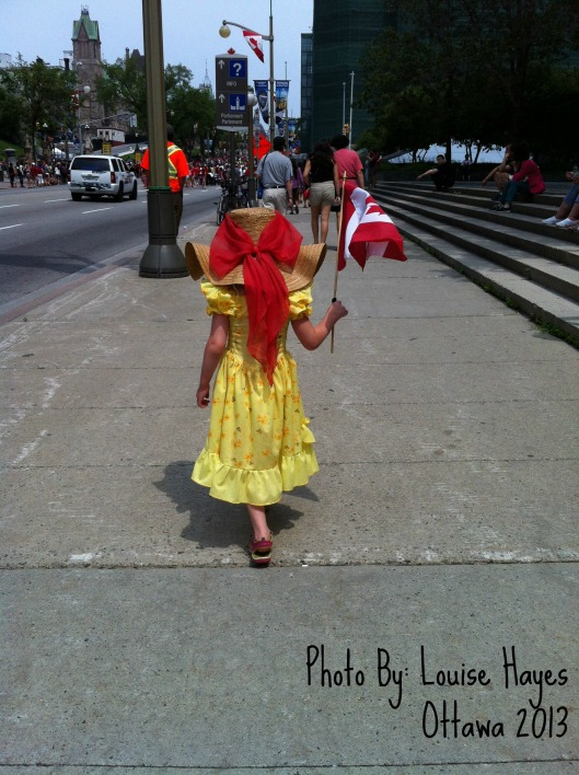 My eldest daughter, Canada Day in Ottawa - July 1, 2013