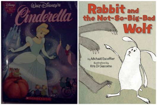 We finally had to return Rabbit and the Not-So-Big-Bad Wolf to the library yesterday. It was a solemn occation