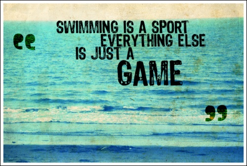 swimming is a sport