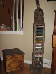 This is Bill, our traditional Indonesian CD Holder.