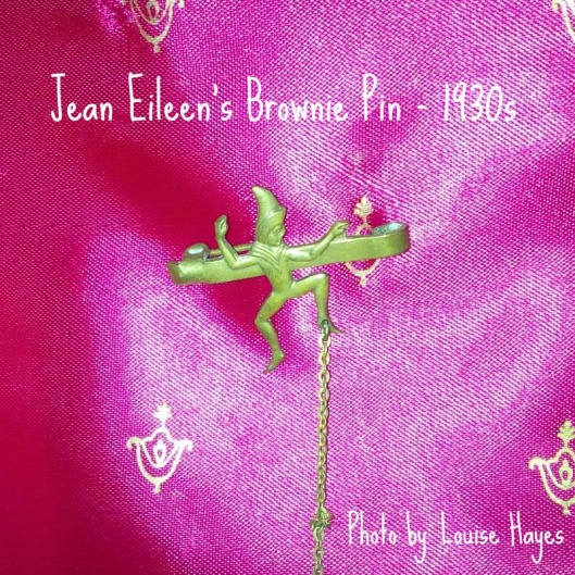 My Great-Aunt Jean-Eilleen's Brownie pin.