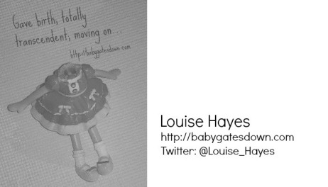 I've been to a few blog conferences and was informed a business card was required. So Tada!