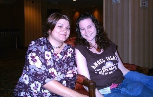 Lyndsay (one of my early blog muses) and I – at a Frontier College conference about 10 years ago.