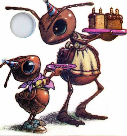 Richard Bernal Illustration - from the Publications International ,Ltd 1993  Sing- With- Me  The Ants Go Marching One By One